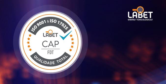 Selo de Qualidade LABET - ISO 9001 & ISO 17025